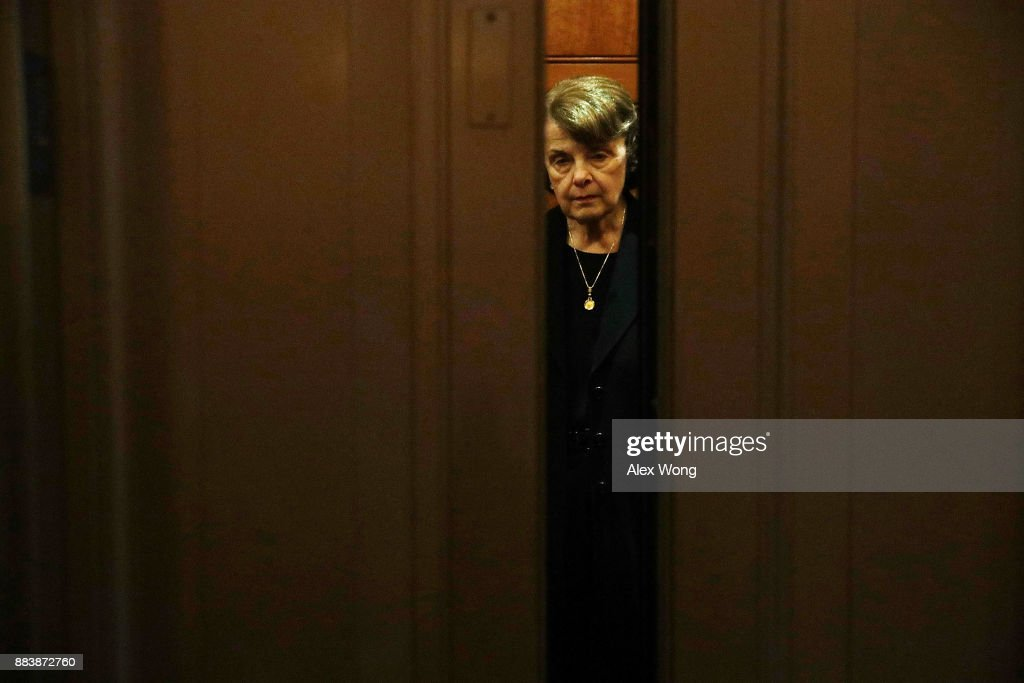 U.S. Sen. Dianne Feinstein (D-CA) leaves the Senate chamber after a vote at the Capitol December 1, 2017 in Washington, DC. Senate GOPs indicate that they have enough votes to pass the tax reform bill.