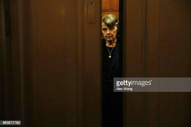 S Sen Dianne Feinstein leaves the Senate chamber after a vote at the Capitol December 1 2017 in Washington DC Senate GOPs indicate that they have...