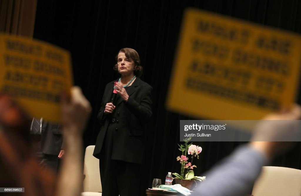 Sen. Dianne Feinstein  Holds Town Hall Meeting In San Francisco