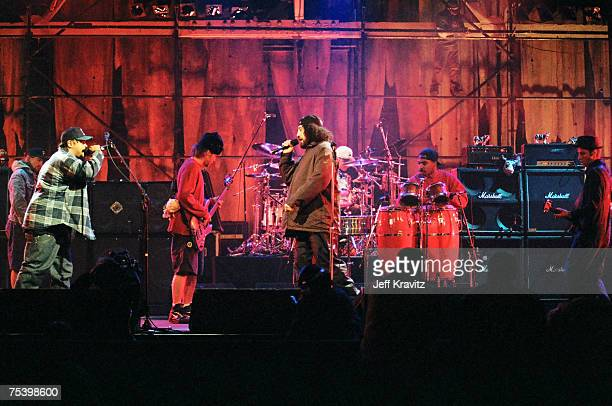 Sen Dog and BReal of Cypress Hill perform with Pearl Jam