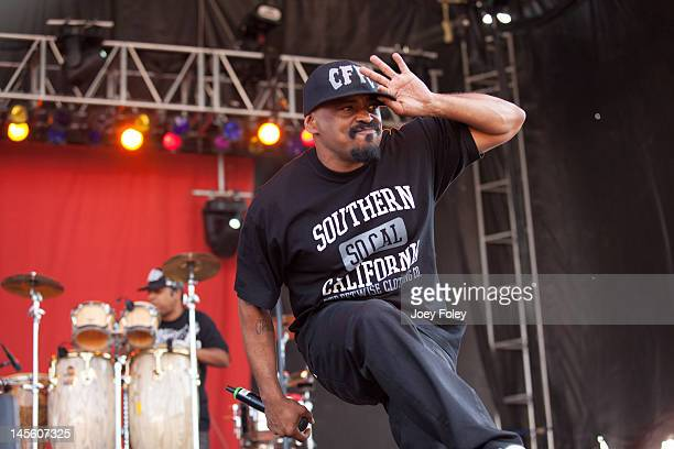 Sen Dog and Eric Bobo of Cypress Hill performs live during the 2012 Rock On The Range festival at Crew Stadium on May 19 2012 in Columbus Ohio
