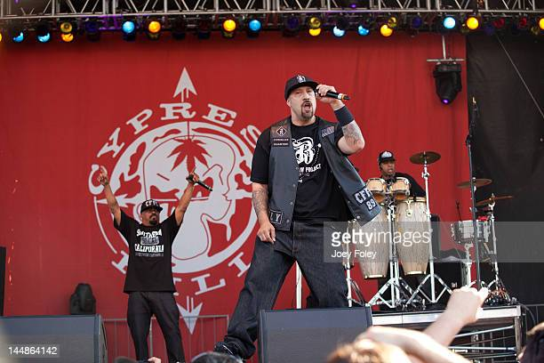 Sen Dog BReal and Eric Bobo of Cypress Hill performs live during the 2012 Rock On The Range festival at Crew Stadium on May 19 2012 in Columbus Ohio