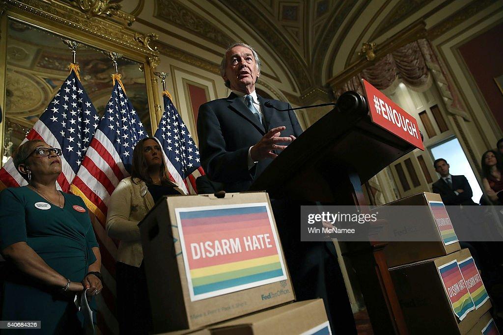 Senate Democrats And Gun Violence Victims Urge Passage Of Gun Control Legislation