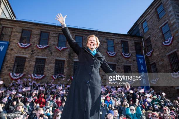 Sen Elizabeth Warren announces her official bid for President onFebruary9 2019 in Lawrence Massachusetts Warren announced today that she was...