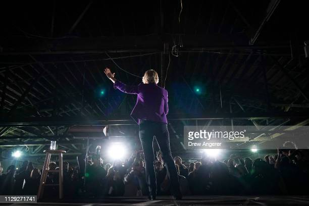 Sen. Elizabeth Warren , one of several Democrats running for the party's nomination in the 2020 presidential race, speaks during a campaign event,...