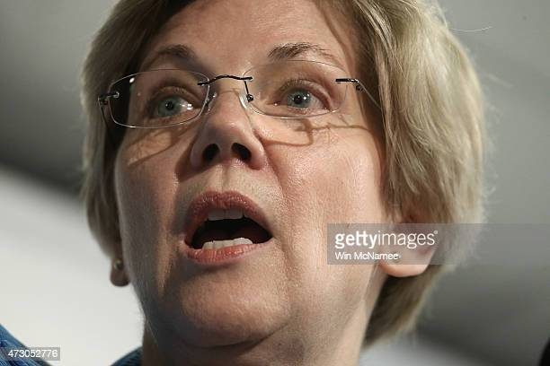 Sen Elizabeth Warren speaks about the release of a new report authored by Nobelprize winning economist Joseph Stiglitz published by the Roosevelt...