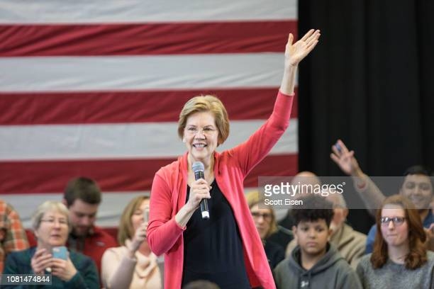 Sen. Elizabeth Warren , speaks during a New Hampshire organizing event for her 2020 presidential exploratory committee at Manchester Community...