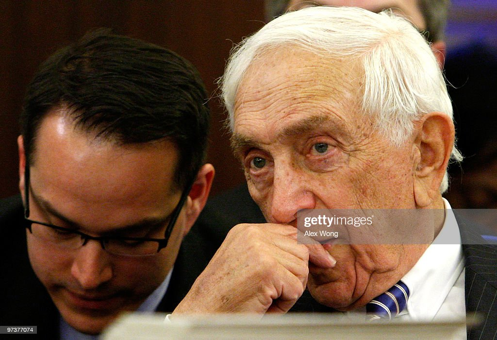 U.S. Sen. Frank Lautenberg (D-NJ) listens to an aide during a hearing on the recall of Toyota vehicles before the Senate Commerce, Science and Transportation Committee March 2, 2010 on Capitol Hill in Washington, DC. Three top officials of Toyota testified at a hearing to answer questions from legislators on the recall and safety records of the auto maker. Lautenberg was diagnosed with lymphoma in February and has been going through chemotherapy treatment.