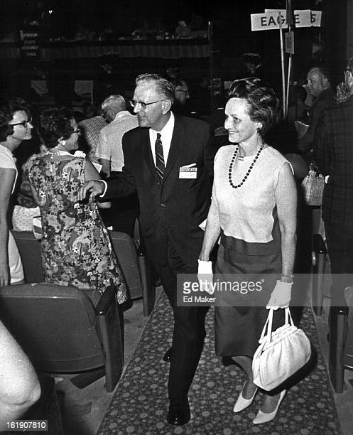 JUL 23 1966 7251966 Sen Gordon Allott Colo wife walk down aisle after acceptance speech