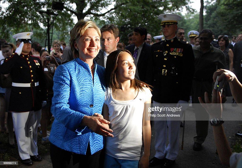 Sen. Hillary Clinton D-Ny. attends : News Photo
