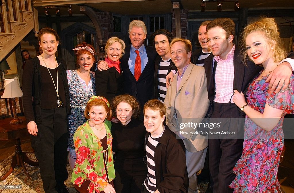Sen. Hillary Clinton (third from left, top row), former Pres : News Photo