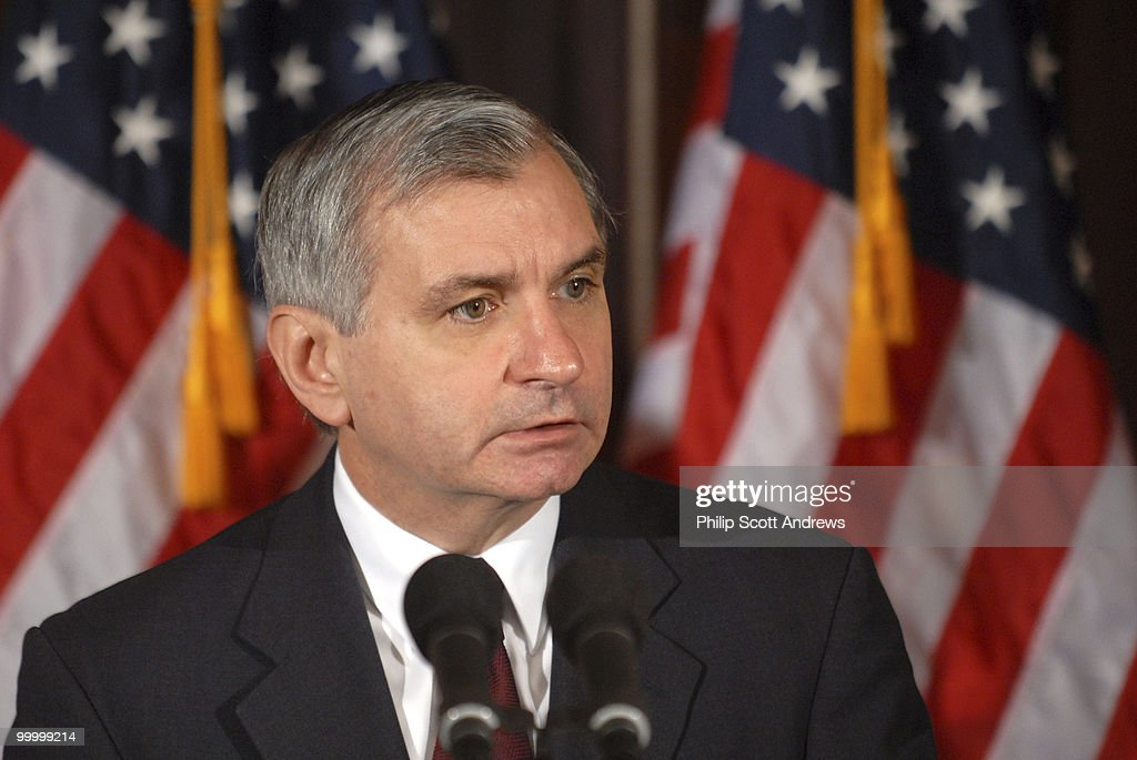 Sen. Jack Reed, D-RI, holds a press conference to announce the release of of a serious letter from the National Security Advisory Group that discusses Bush Administration Policies on military budgets.