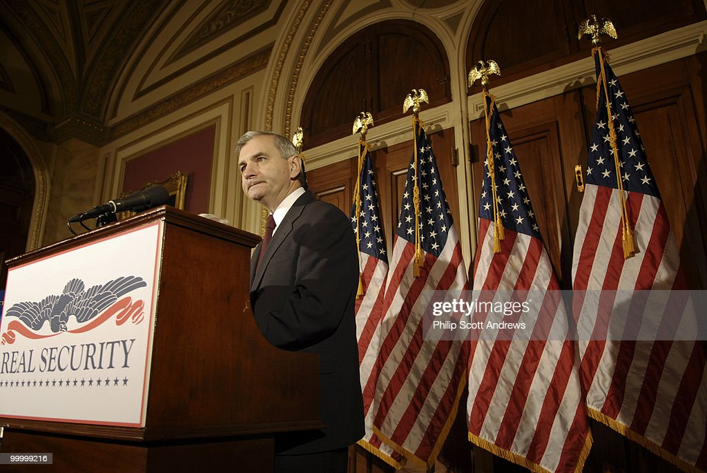 Sen. Jack Reed, holds a press conference to announce the release of of a serious letter from the National Security Advisory Group that discusses Bush Administration Policies on military budgets.