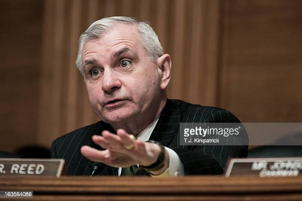 S Sen Jack Reed questions Richard Cordray nominee for director of the Consumer Financial Protection Bureau at a confirmation hearing before the...