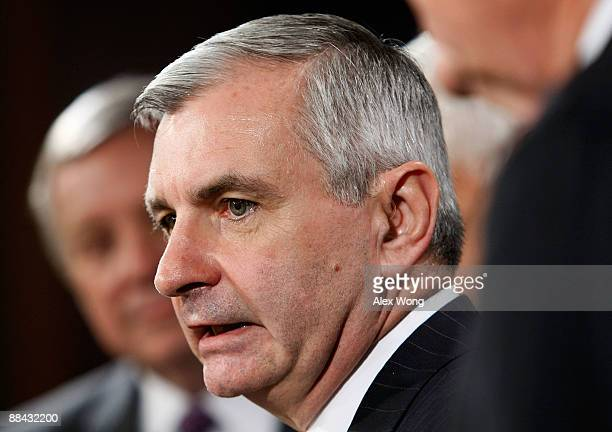 S Sen Jack Reed speaks during a news conference on Capitol Hill June 11 2009 in Washington DC The Senate has passed the Family Smoking Prevention and...