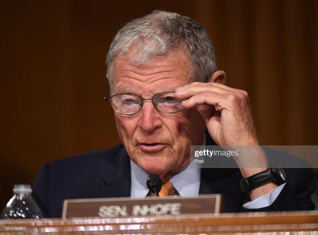 EPA Administrator Andrew Wheeler Testifies Before Senate Oversight Hearing : News Photo
