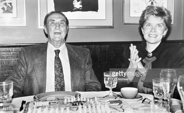 Sen James Strom Thurmond RSC and his wife Nancy Janice Moore celebrate his 88th birthday with a party at Dominique December 5 1990