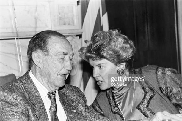 Sen James Strom Thurmond RSC celbrates his 89th birthday with his wife Nancy Janice Moore and children December 6 1991