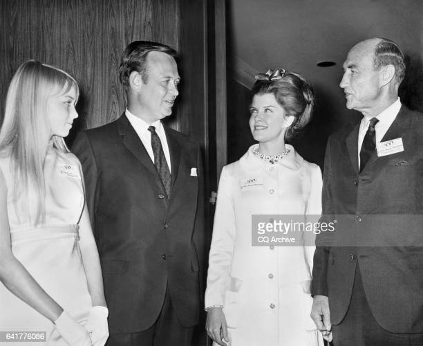 Sen James Strom Thurmond RSC wife Nancy Janice Moore and Rep James Thomas Jim Broyhill RNC House of Representatives Member with his daughter Marilyn...