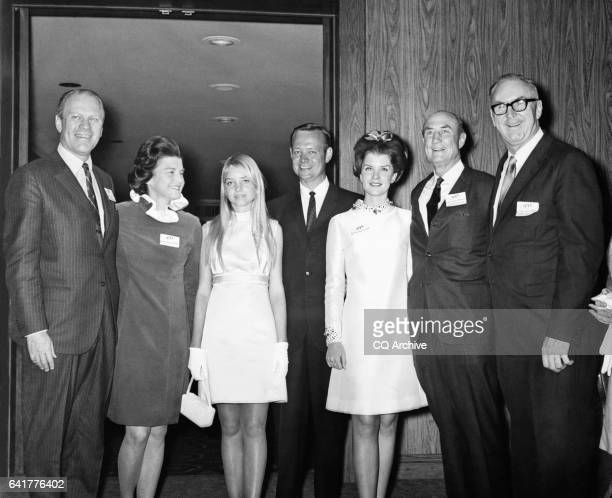 Sen James Strom Thurmond RSC with his wife Nancy Janice Moore Jim Broyhill of North California and his daughter