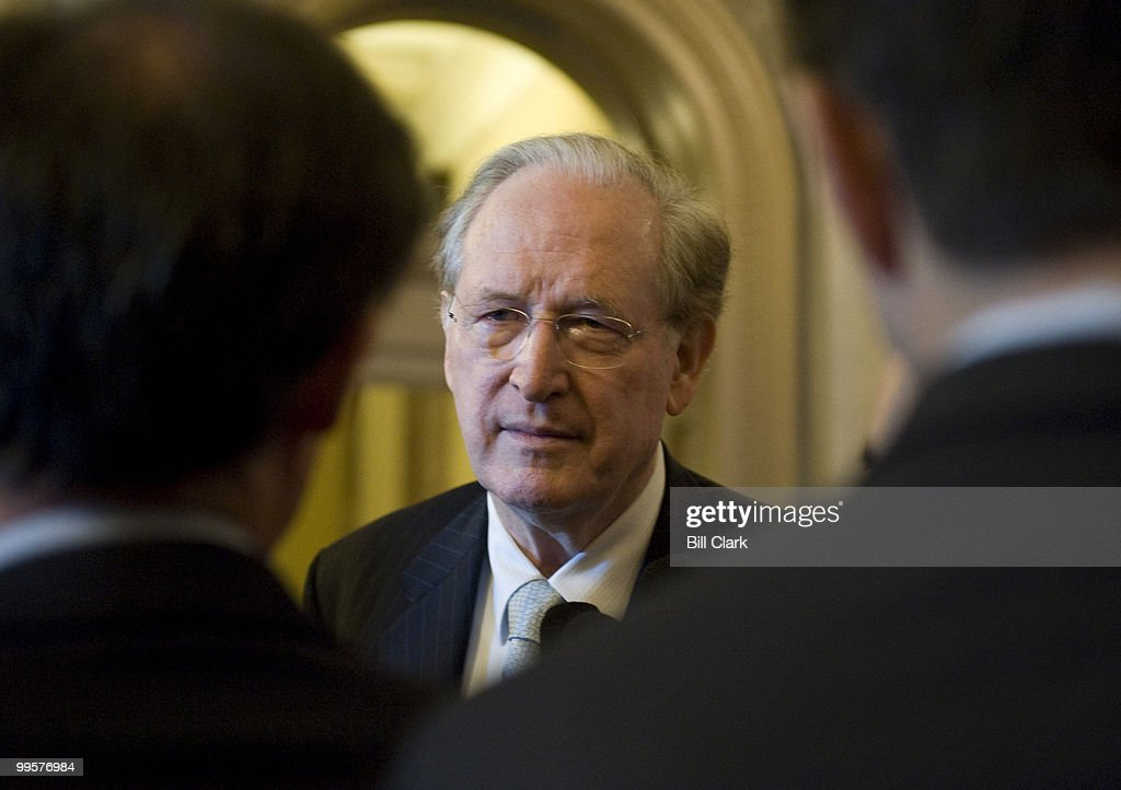 Sen. Jay Rockefeller, D-W. Va., speaks to reporters as he leaves the Senate Floor on Tuesday, Nov. 17, 2009.