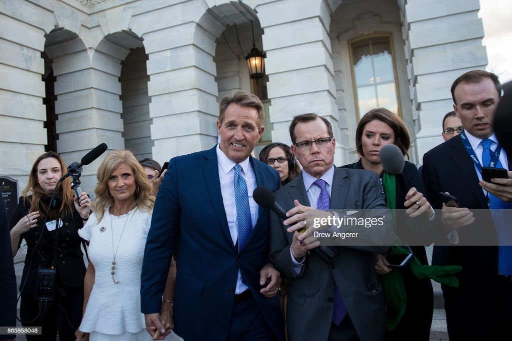 Se. Jeff Flake  Announces He Will Not Seek Re-Election And Rebukes President Trump In Senate Chamber Speech