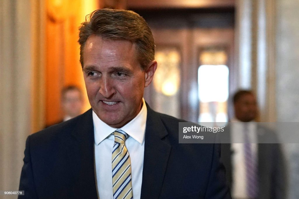 Sen. Jeff Flake  Delivers Critical Speech Against Trump's Attacks On The Media In Senate Chamber