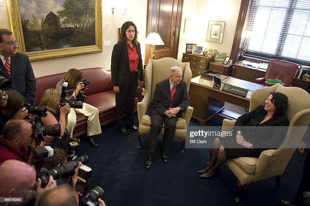 Sen. Jeff Sessions, R-Ala., meets with Supreme Court nominee Judge Sonia Sotomayor in his office in the Rusell Senate Office Building on Tuesday, June 2, 2009.