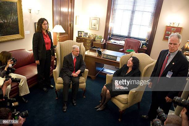 Sen Jeff Sessions RAla meets with Supreme Court nominee Judge Sonia Sotomayor in his office in the Rusell Senate Office Building on Tuesday June 2...