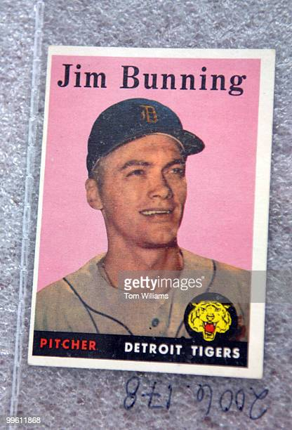 Sen Jim Bunning RKy baseball card is part of the House Office of History and Preservation congressional baseball game collection