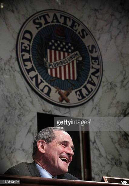 Sen Jim Risch listens to testimony about the US commitment to Afghanistan during a hearing of the Senate Foreign Relations Committee in Washington DC...