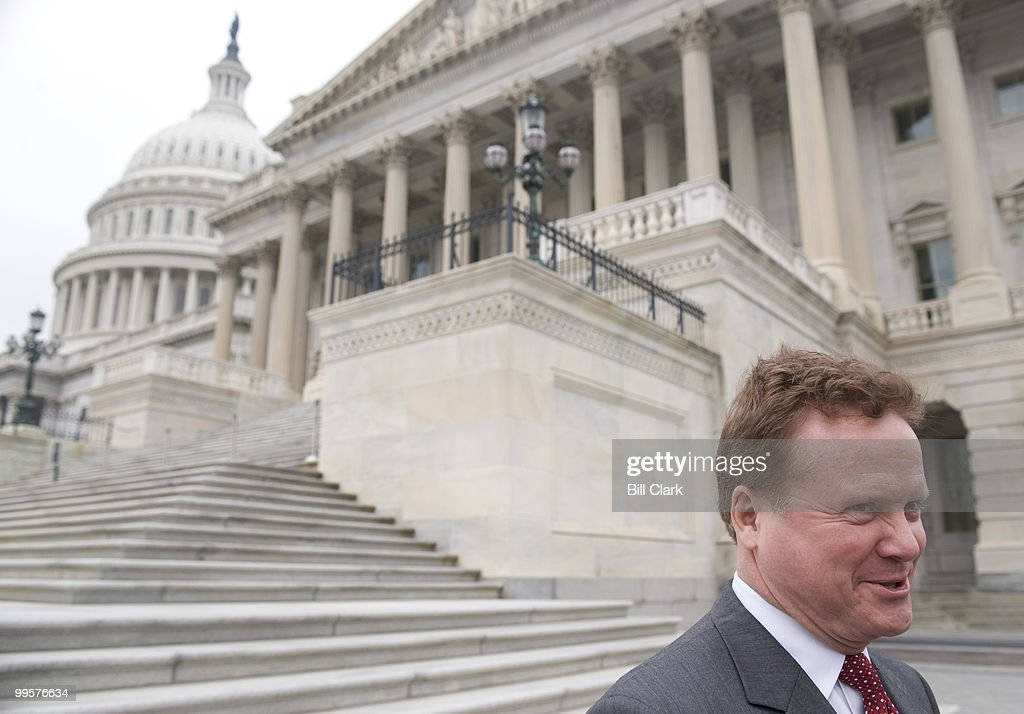 Sen. Jim Webb, D-Va., speaks to reporters as he leaves the Capitol after gaveling the pro forma session of the Senate closed on Tuesday, Nov. 20, 2007. Democrats are holding the pro forma sessions to block President Bush from making any recess appointments over the Thanksgiving break.