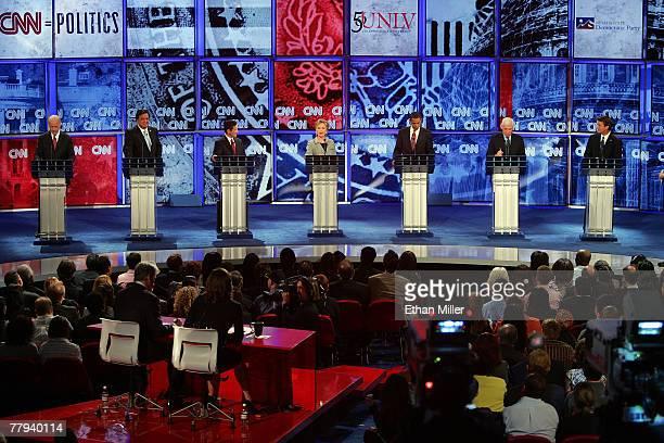 US Sen Joe Biden New Mexico Gov Bill Richardson US Rep Dennis Kucinich US Sen Hillary Clinton US Sen Barack Obama US Sen Chris Dodd and former US Sen...