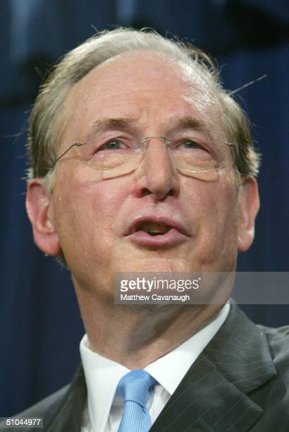 S Sen John D Rockefeller IV vice chairman of the Senate Select Committee on Intelligence speaks at a news conference after the release of the...