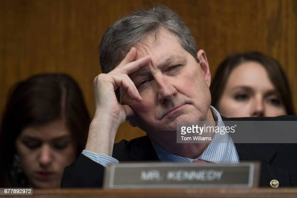 Sen John Kennedy RLa attends a Senate Judiciary Committee hearing in Dirksen Building titled 'Oversight of the Federal Bureau of Investigation'...