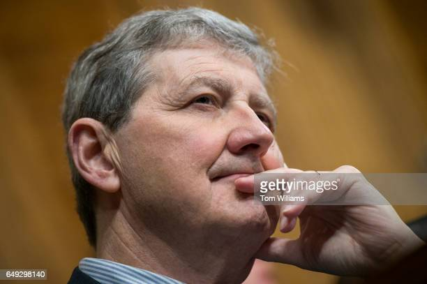 Sen John Kennedy RLa attends the Senate Judiciary Committee confirmation hearing for Rod Rosenstein nominee for deputy attorney general and Rachel...