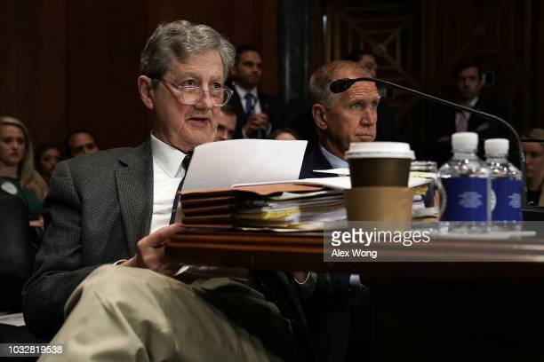 S Sen John Kennedy participates in a markup hearing before the Senate Judiciary Committee September 13 2018 on Capitol Hill in Washington DC A...