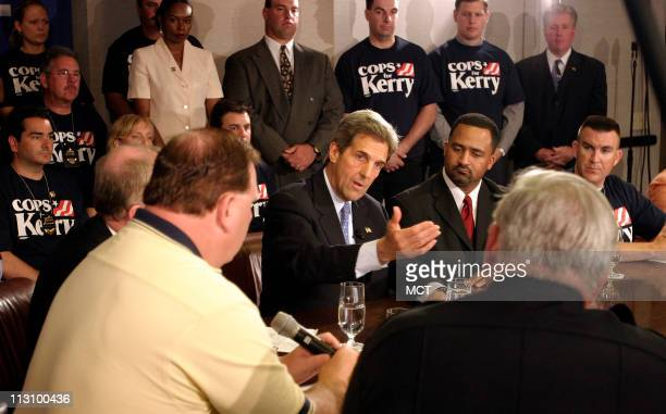 WASHINGTON Sen John Kerry responds to a reporters question following a meeting with the International Brotherhood of Police in Washington Friday May...