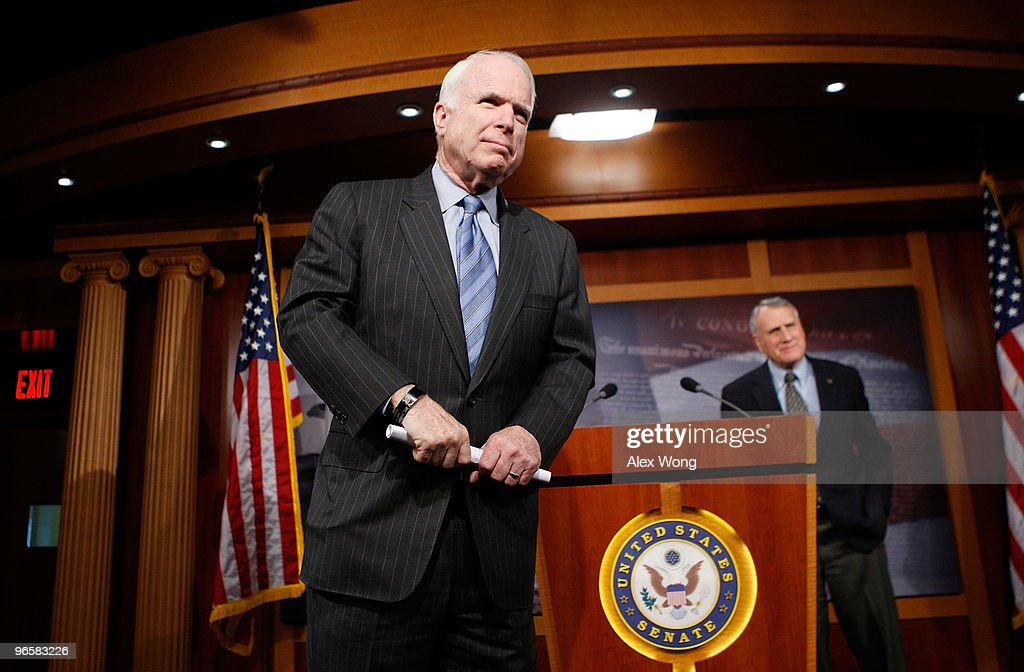 McCain And Lieberman Hold Press Conference On Proposed Iran Sanctions