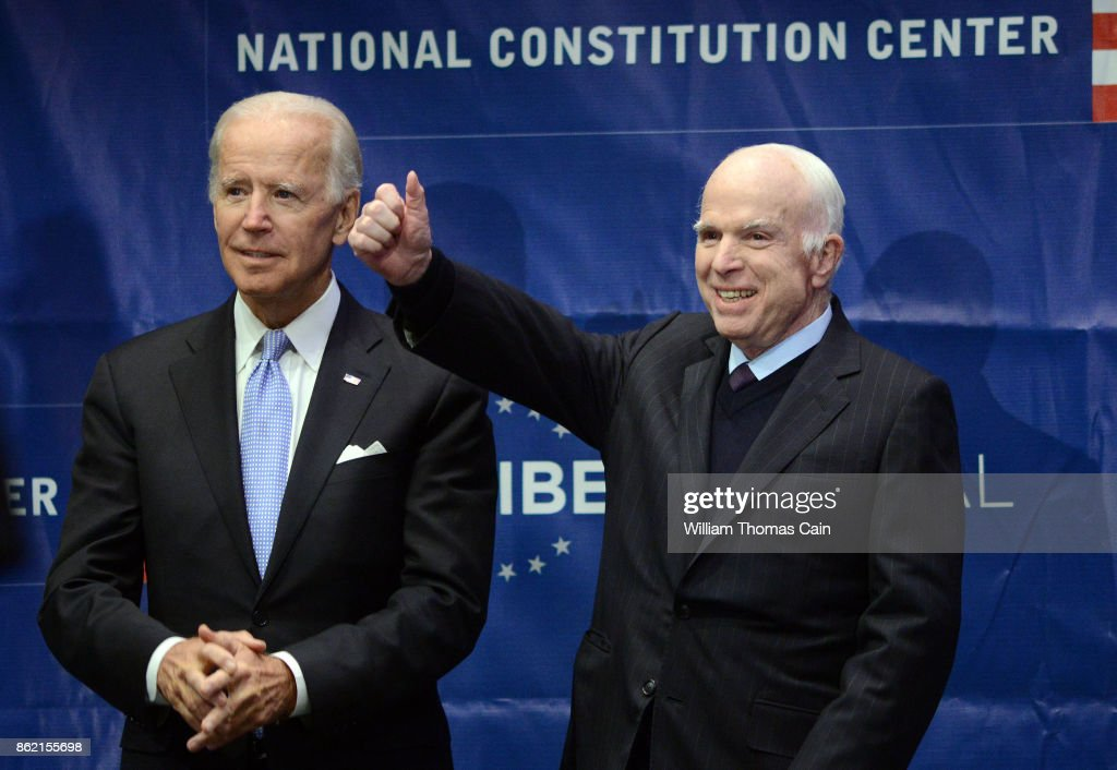 John McCain Honored With Liberty Medal For A Lifetime Of Service : News Photo