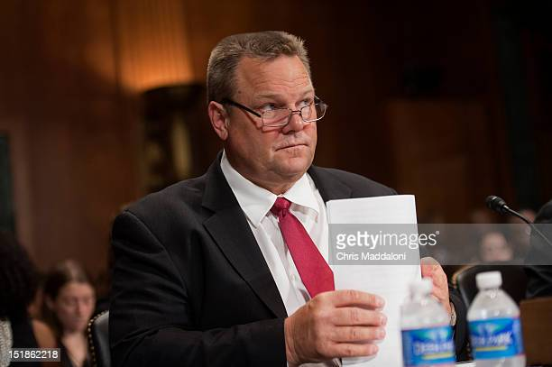 Sen John Tester DMont introduces Anthony Johnstone assistant professor at the University of Montana School of Law a witneess for a Senate Judiciary...