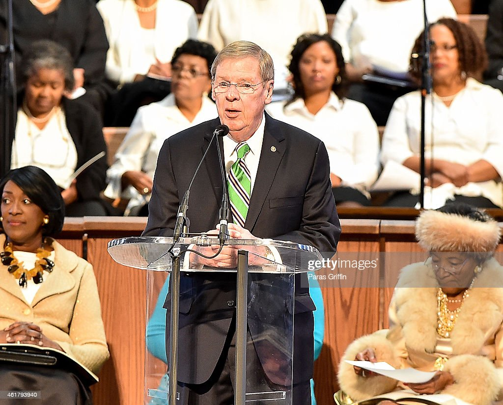 The 2015 Martin Luther King, Jr. Annual Commemorative Service : News Photo