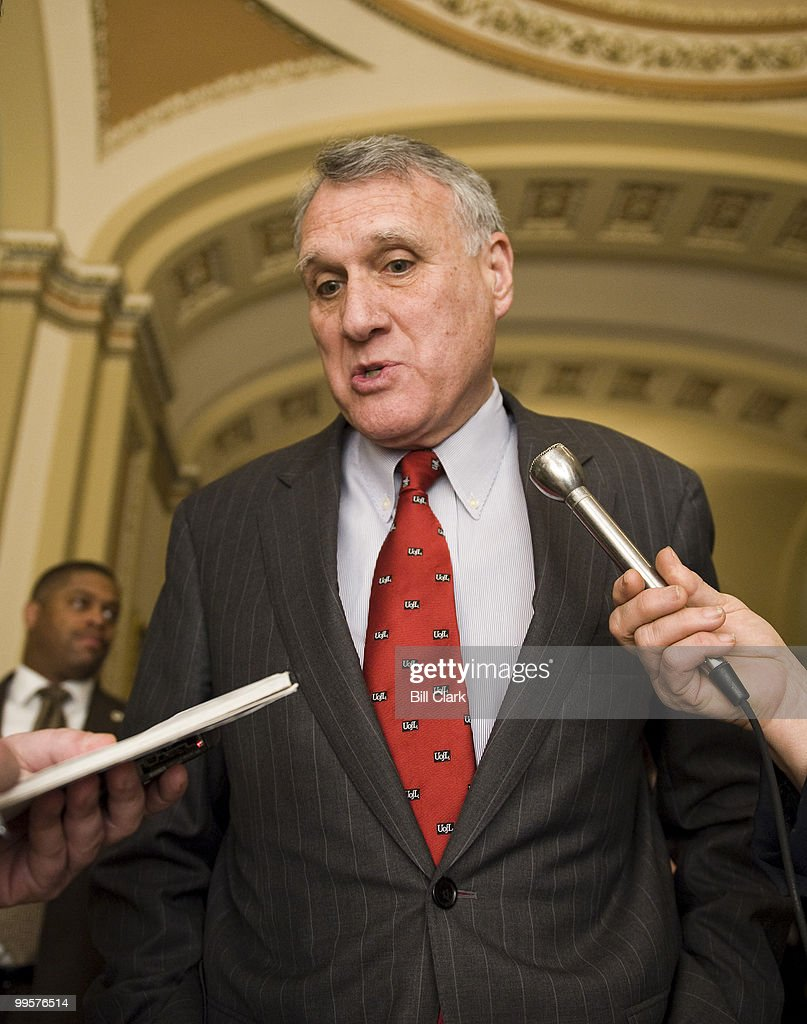 Sen. Jon Kyl, R-Ariz., speaks to reporters in the Ohio Clock Corridor following the Senate Republican Policy lunch on Tuesday, March 31, 2009.