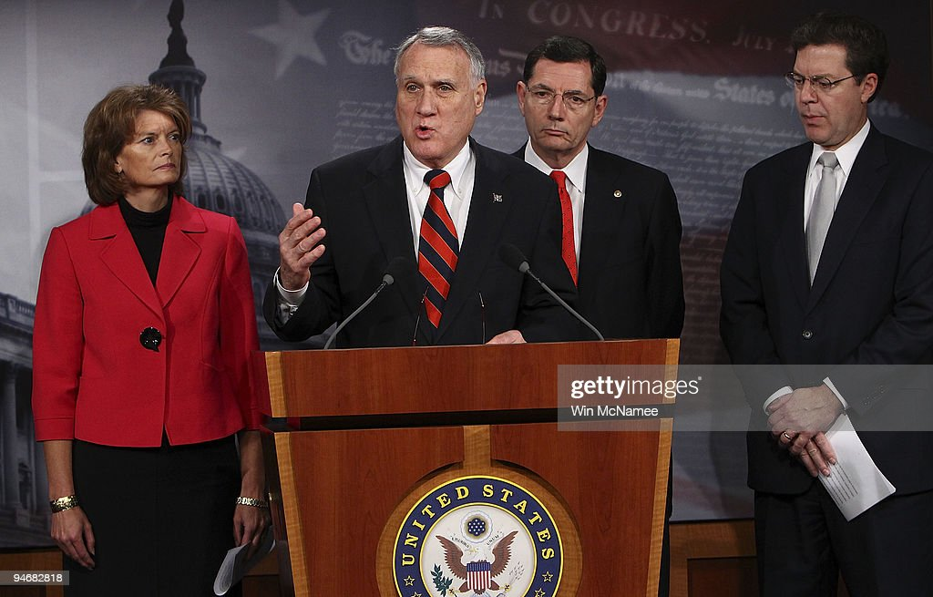 Senate Republicans Hold Press Conference On Obama Climate Policies