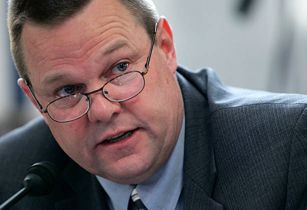 Sen. Jon Tester makes an opening statement during a Senate Veterans Affairs Committee hearing March 27, 2007 in Washington, DC. The committee...