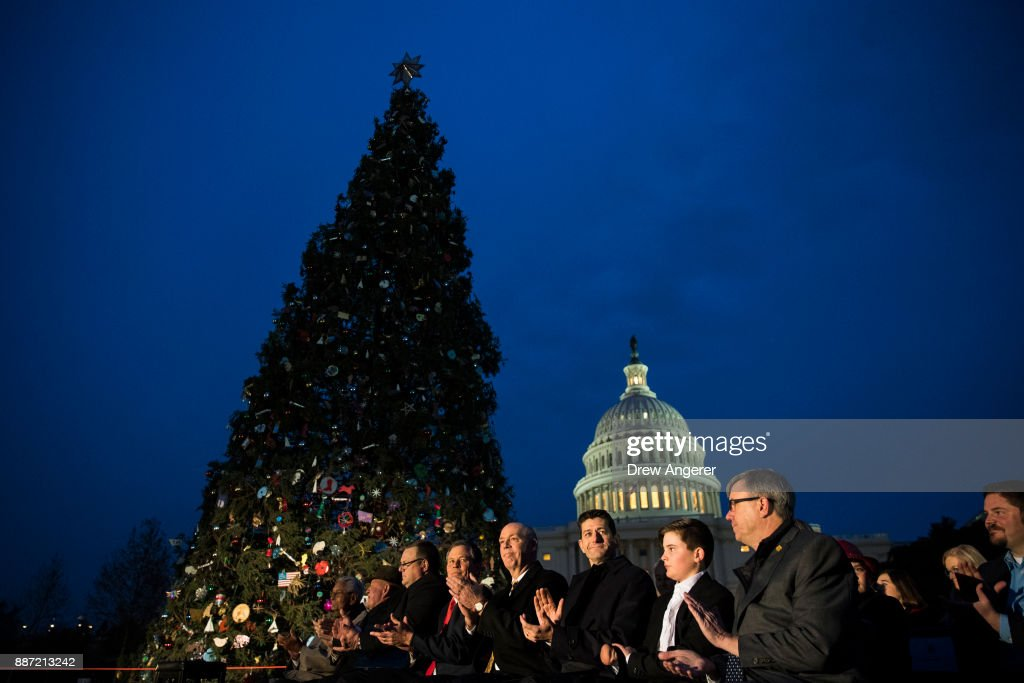 Annual U.S. Capitol Christmas Tree Lighting Ceremony Held In Washington : News Photo