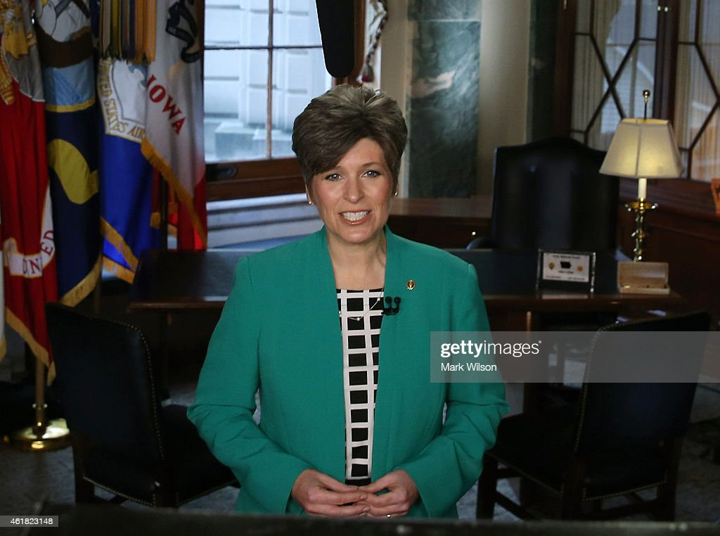 Republican Response To State Of The Union Delivered By Sen. Joni Ernst : News Photo