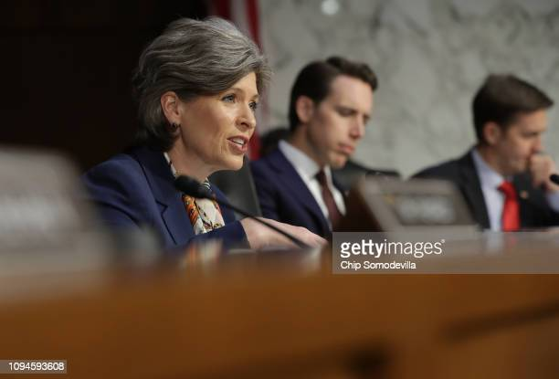 Sen Joni Ernst questions US Attorney General nominee William Barr during his confirmation hearing January 15 2019 in Washington DC Barr who...