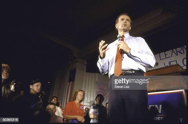 Sen Joseph R Biden Jr announcing his bid for 1988 Democratic presidential nomination