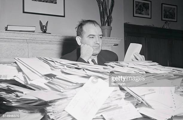 Sen. Joseph R. RD revealed today that he has been receiving on an average of between 5000 and 6000 letters a day from people all over the country...